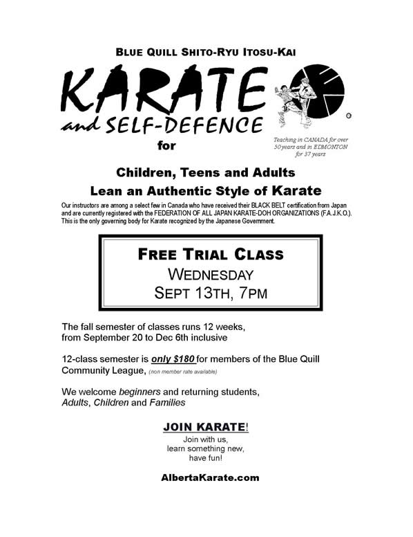 karate, children, teens, adults, Edmonton, AB