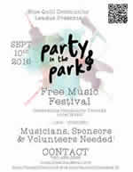 Party in the Park community music festival 2016